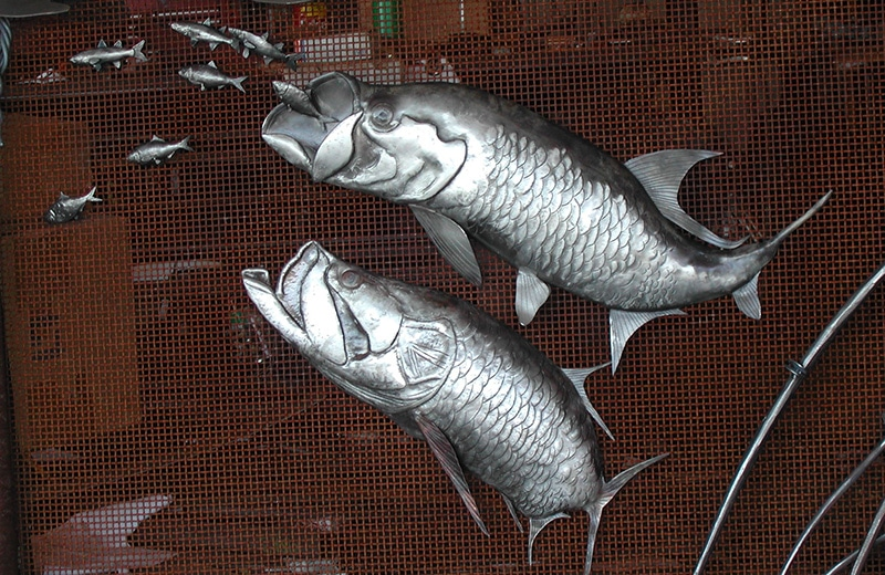 Fish Fireplace Screen detail