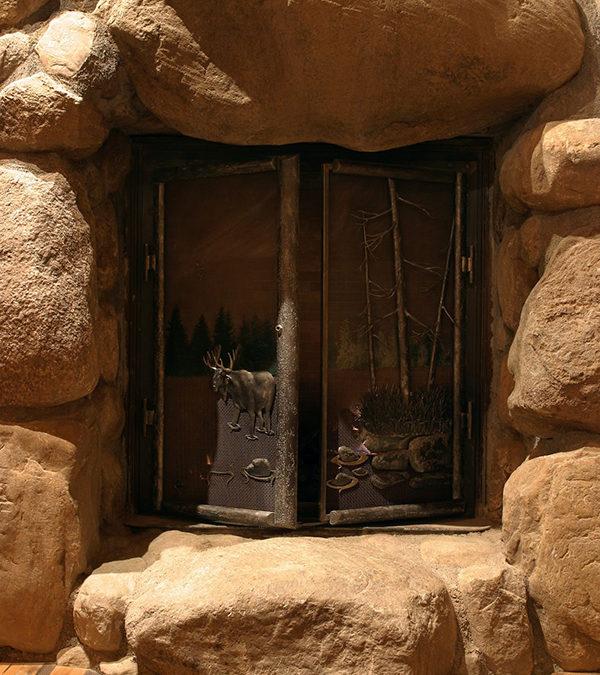 Elk Fireplace screen doors